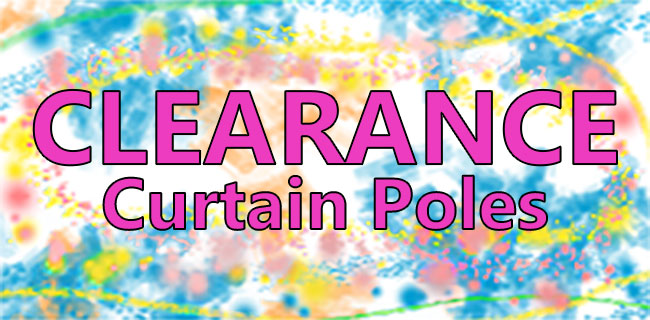 Clearance Curtain Poles Banner
