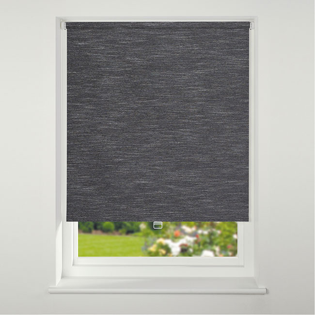 Swish Cordless Texture Blackout Roller Blind 120cm x 170cm Black
