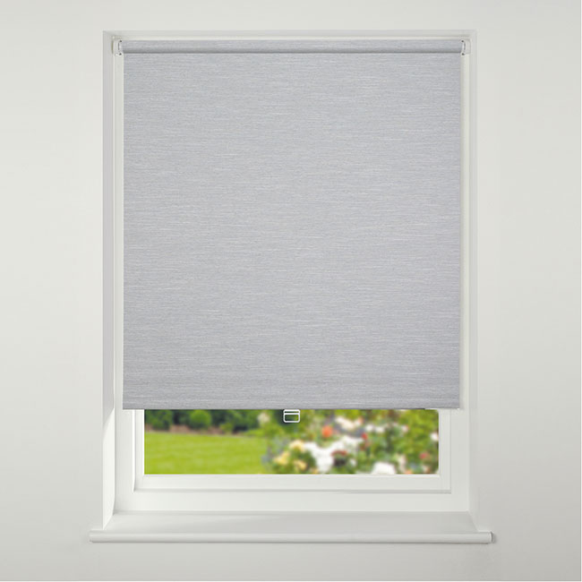 Swish Cordless Texture Blackout Roller Blind 120cm x 170cm Grey