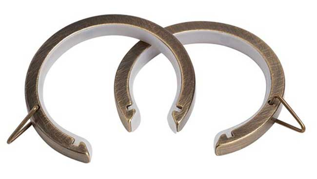 Curtains Ideas curtain rings brass : Order online with next day delivery - Metal Curtain Rings
