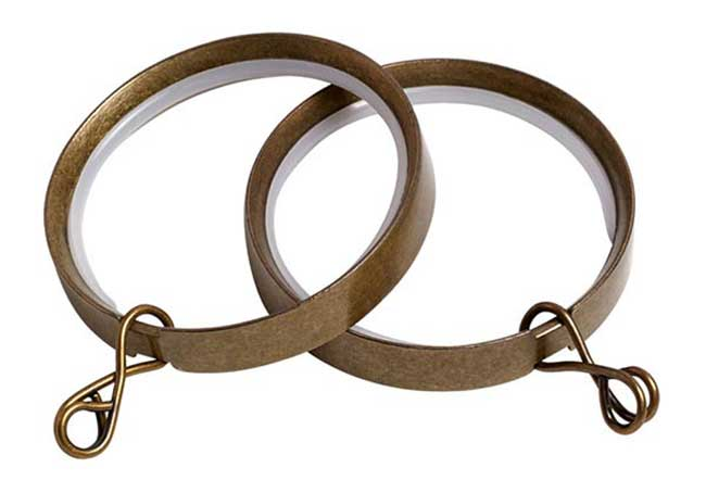 Speedy Lined Ring Antique Brass For 35mm Pole