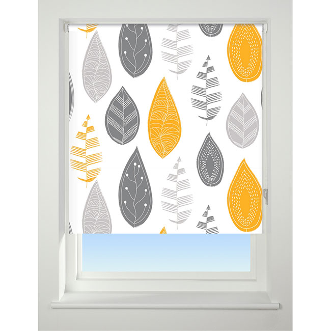Universal Patterned Blackout Roller Blind 60cm 2ft Leaf
