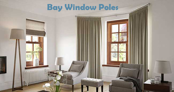 Curtain Rods 5 sided bay window curtain rods : At Uk Curtain Poles we have Bay Window Curtain Poles, 5 sided bay ...